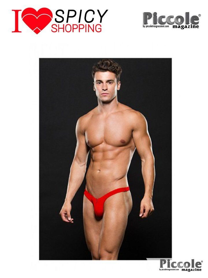 MICROFIBER LOW RISE ZIP THONG RED – ENVY MENSWEAR