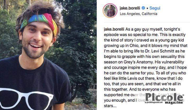 Il coming out di Jake Borelli