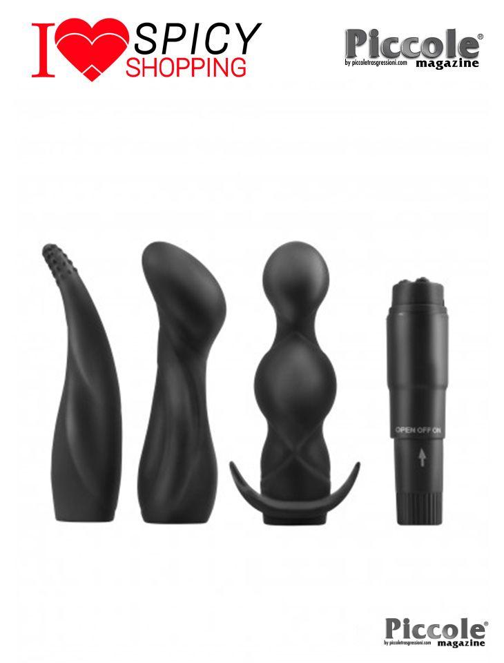 KIT VIBRANTE ANAL ADVENTURE KIT BLACK – PIPEDREAM