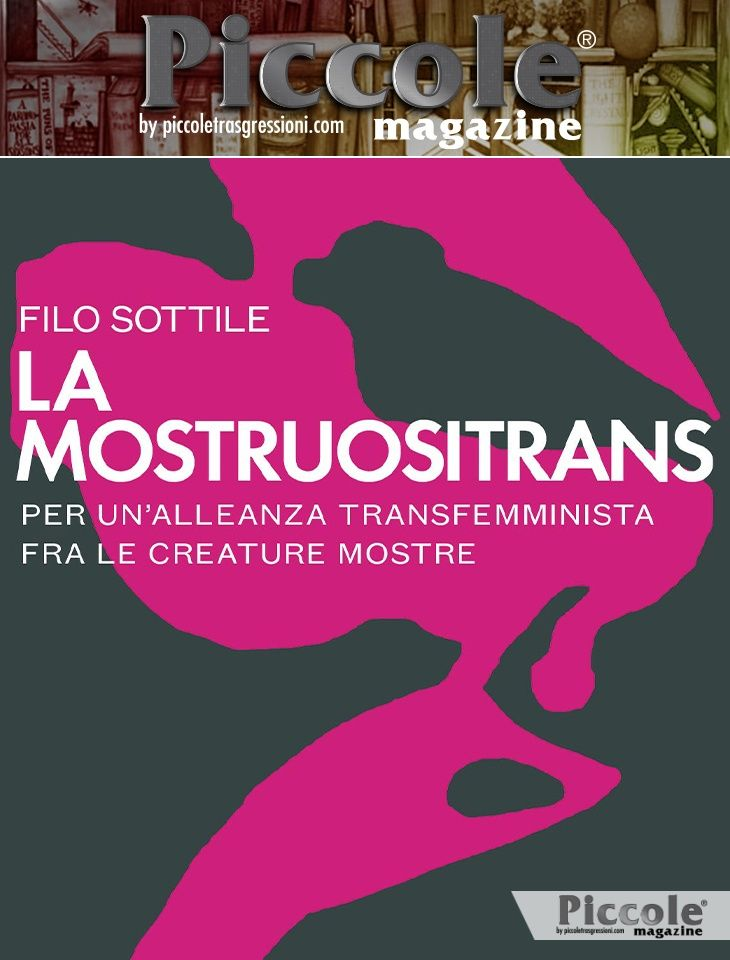Foto copertina del libro La Mostruositrans di Filo Sottile