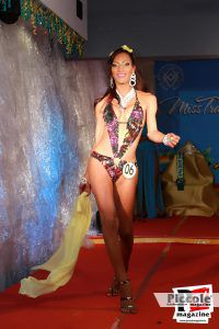 Laurinha Diniz in costuma da bagno al Miss Trans Estate 2018