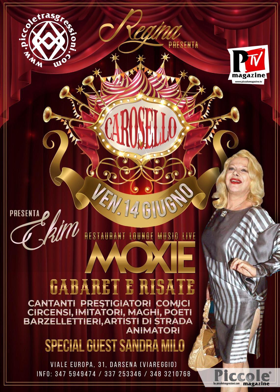 Ekim vi aspetta stasera alla nuova serata del Moxie di Viareggio