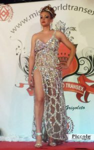 Luana Baldrini concorrente del miss world transex