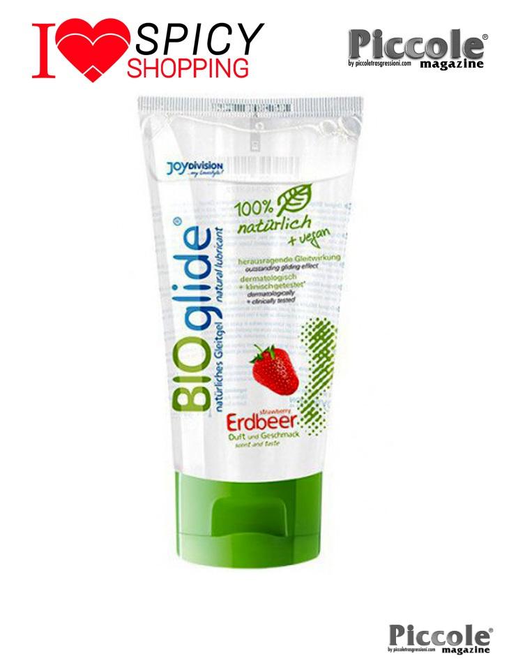 Lubrificante vegano commestibile aromatizzato fragola bioglide di joydivision
