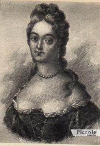 mademoiselle de Choin una delle amanti di Luigi XV