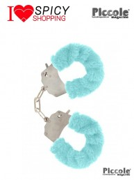FURRY FUN CUFFS AQUA - TOY JOY