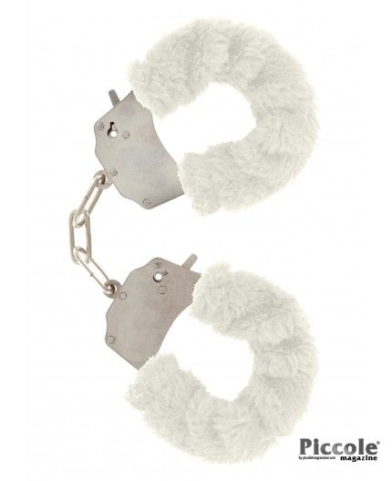 FURRY FUN CUFFS WHITE - TOY JOY