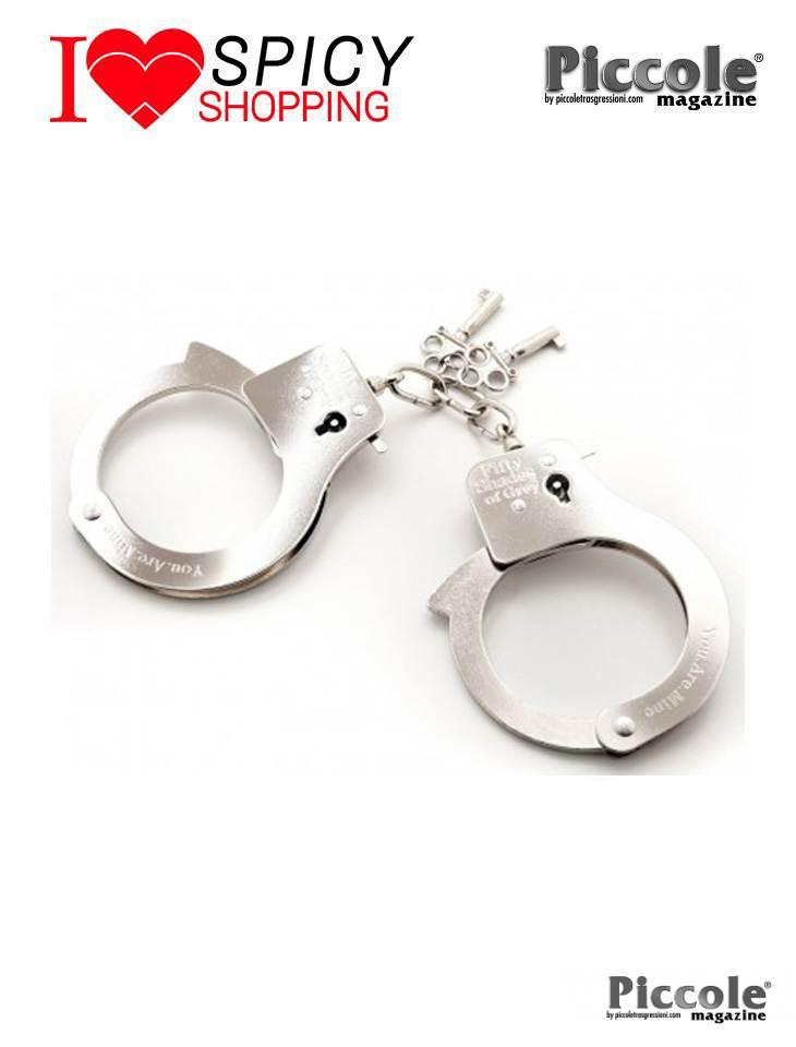 Manette metalliche handcuffs fifty shades of grey