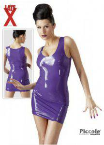 Abito in lattice viole - latex