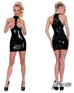 Mini Dress Latex Blk GP