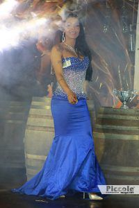 Brenda Magnom in abito elegante al Miss Trans Toscana 2018