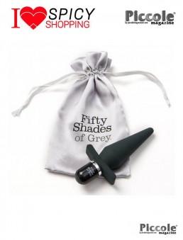 Plug Anale Vibrante in silicone grigio della line Fifty Shades of Grey