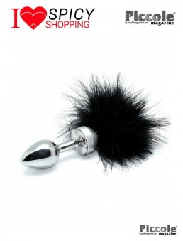 PLUG SMALL WITH BLACK FEATHER - RIMBA