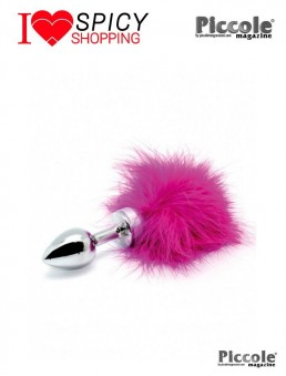PLUG SMALL WITH PINK FEATHER - RIMBA