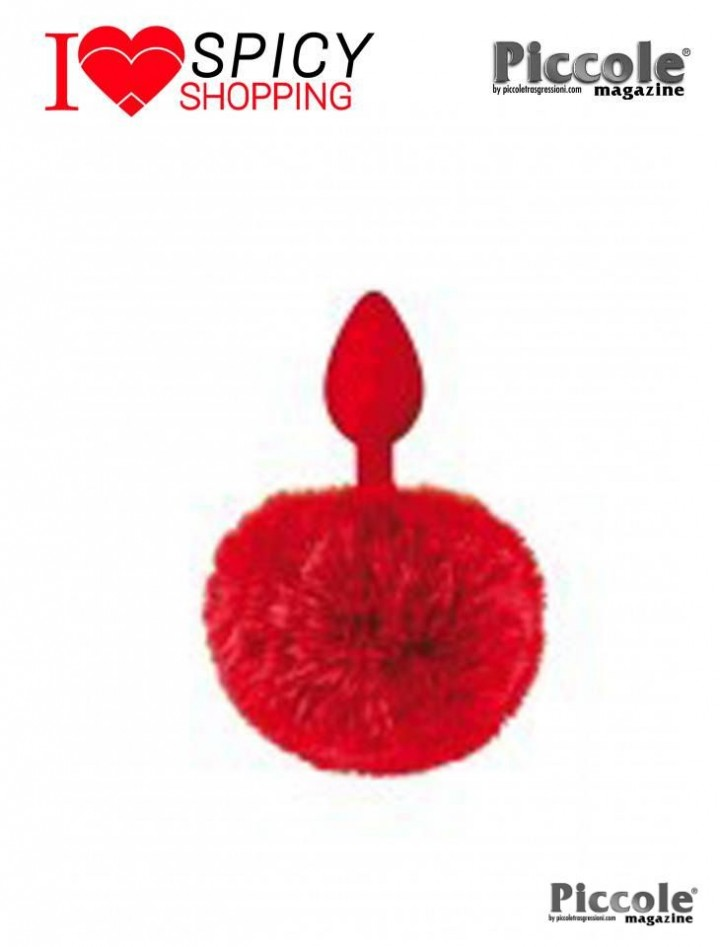 PLUG IN SILICONE CON PON PON ROSSO - SWEET CARESS