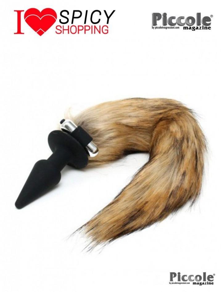 PLUG CON CODA - SILICONE BUTT PLUG WITH FOX TAIL - RIMBA