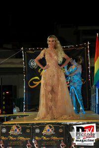 Sfilata in abito da sera di Chrystal Medeiros al Miss Trans Abruzzo 2018