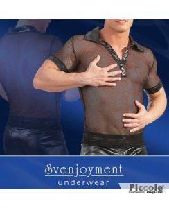 t-shirt rete collo V by Svenjoyment