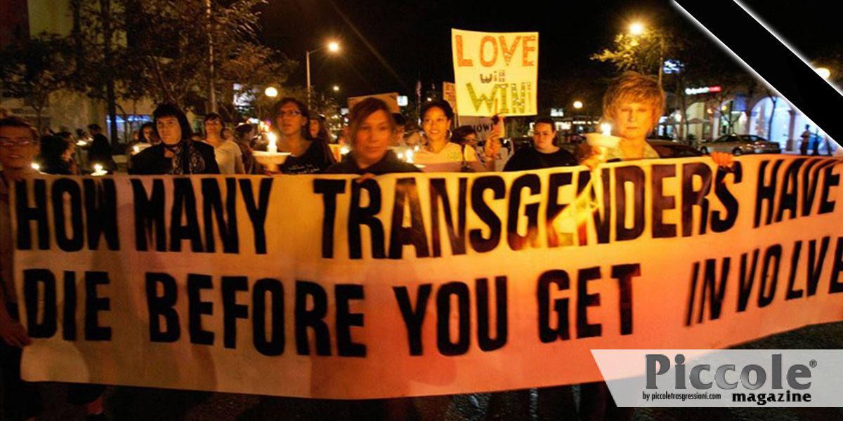 T-DOR: le vittime morte a causa della transfobia nel 2018
