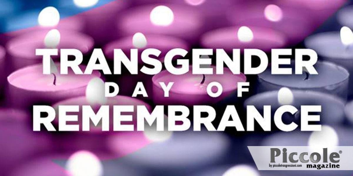 Il 20 novembre si celebra la Giornata della Memoria Transgender